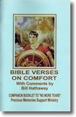 """Bible Verses on Comfort"" Companion Booklet to ""No More Tears"""